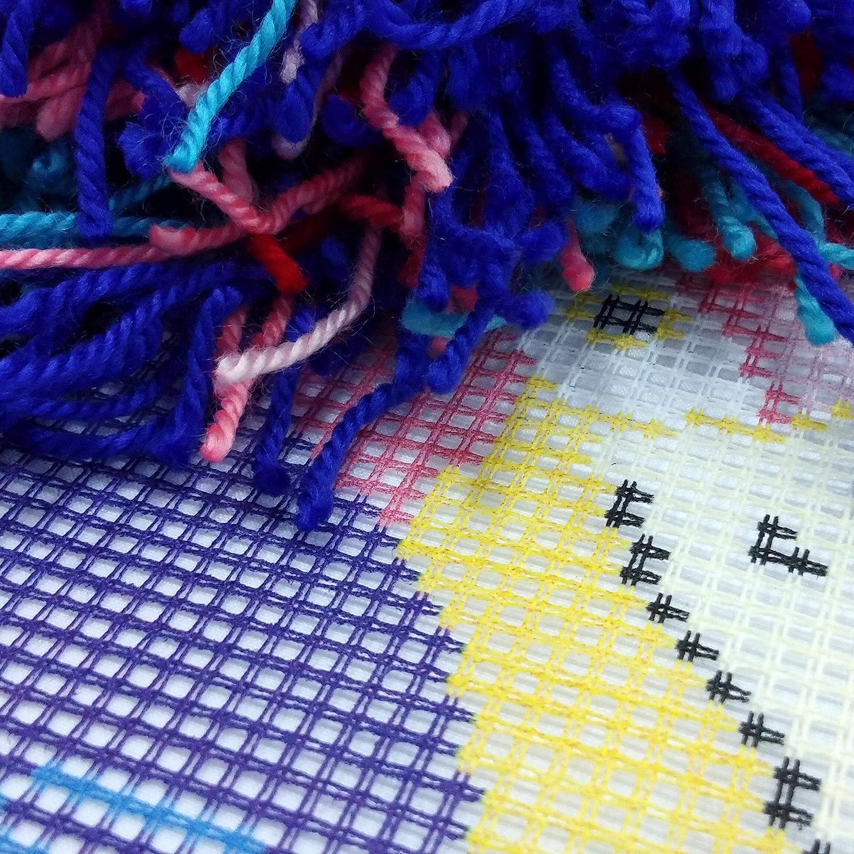 Throw Pillow 16/×16 Inches Printed Tapestry Canvas European Quality Needlepoint Kit Flamingo