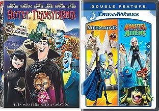 Mind Boggling Mega Alien Monster Night Animated Hotel Transylvania & Goodnight Mr. Foot + Megamind Dreamworks DVD & Monsters VS Aliens Triple Feature Creepy Funny family fun