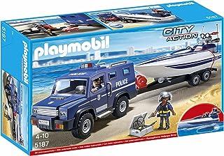 Playmobil Coche de Policía con Lancha