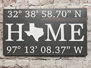 Custom Engraved Latitude/Longitude Wall Plaque/Decor with State Map for Realtor Closing/Mortgage Company Gift, Housewarming/New Home Gift, Birthday Present, Anniversary Gift, or Wedding Present