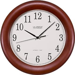La Crosse Technology WT-3122A 12.5 Inch Wood Atomic Analog Clock, 12.5