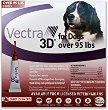 Vectra 3D (Red) 3pk Flea & Tick Control for Dogs Over 95lbs