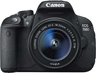 Canon EOS 700D + EF-S 18-55mm IS STM - Cámara digital (18 MP SLR Kit CMOS 18 - 55 mm 2.9 cm 8.8 cm) Negro (Reacondicionado)