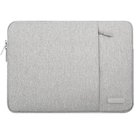 MOSISO Laptop Sleeve Bag Compatible with 13-13.3 inch MacBook Pro, MacBook Air, Notebook Computer, Polyester Vertical Case with Pocket, Gray