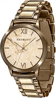 Oliver Redmont - Reloj de madera para caballero   Horizon Collection   En elegante caja de regalo de madera de bambú