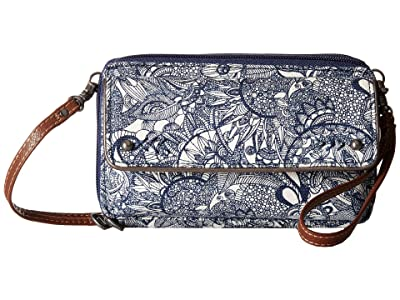 Sakroots Luna Smartphone Crossbody (Navy Spirit Desert) Cross Body Handbags
