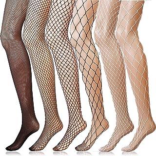 ANDIBEIQI 6 Paia Calze a Rete Fishnet Socks Collant Coprente Elasticizzato Donna Sexy Moda Vita Alta Nylon Collant Calzin...