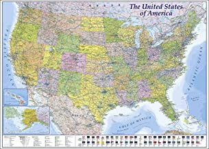 Close Up XXL USA Map Premium Poster - Giant America Map with All States 55