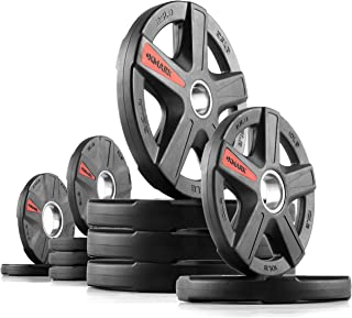 XMark Texas Star Olympic Plates, Patented Design, Sets, One-Year Warranty, Olympic Weight Plates