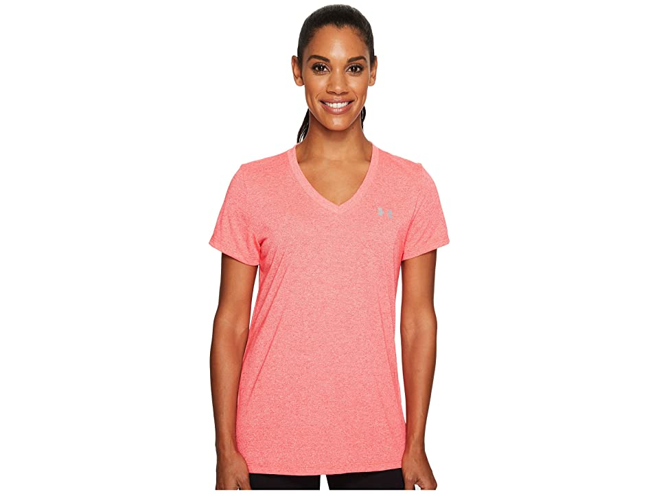 Under Armour Threadborne Train Short Sleeve V-Neck Twist (Marathon Red/Steel) Women