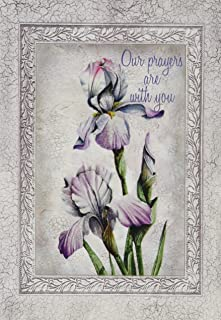 Divinity Boutique (21238N) Greeting Card Assortment: Sympathy, Flowers with Gray Border 5 x 7 Inch, Set of 12 - 3 sets of each 4 designs