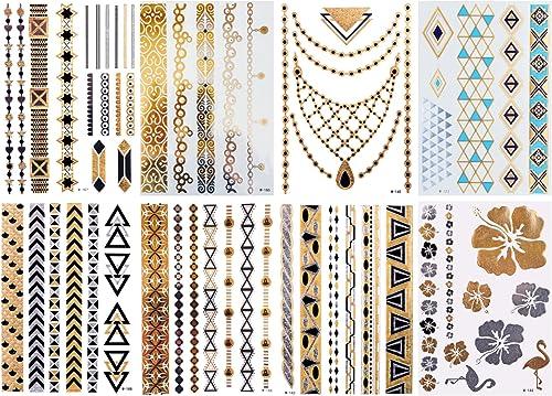 By Diana MEGASET Temporary Tattoos Flashtattoos Klebetattoos Serie W - Sie entscheiden über die Menge, je mehr Sie kaufen, desto billiger (Sie kaufen 100 Sets der Serie W)
