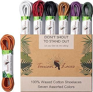Toucan Laces Dress Shoe Laces for Men's Shoes (7 Pairs) Shoelaces   Shoe Strings