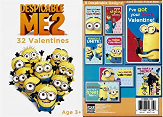 Despicable Me 2 Valentines Cards 32 Count