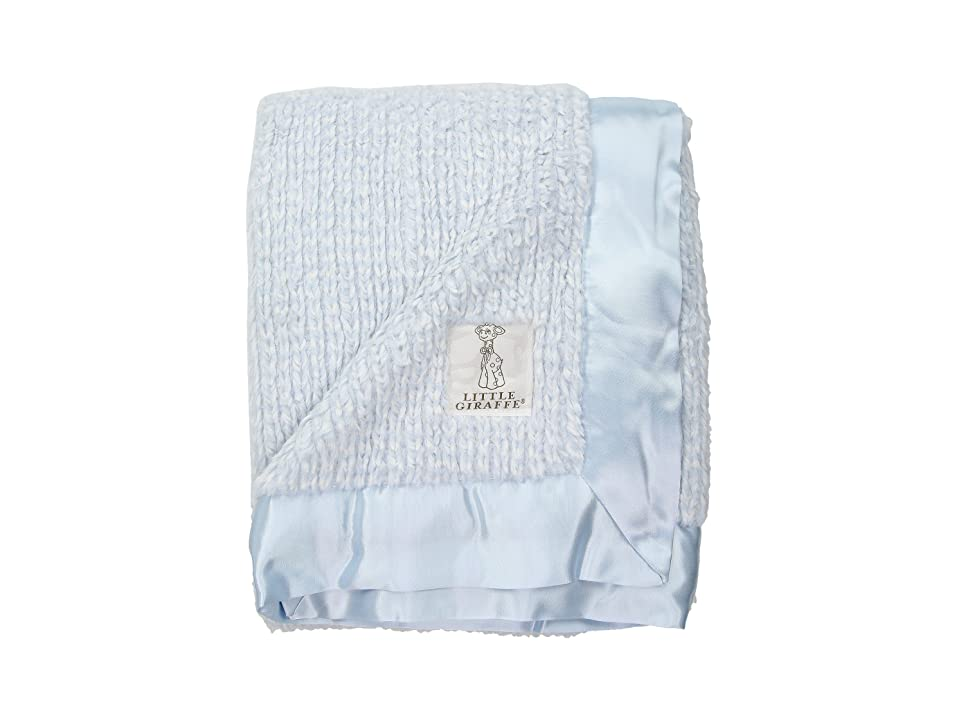 Little Giraffe Luxe Herringbone Blanket (Blue) Accessories Travel