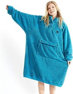 Oversided Blanket Sweatshirt,Comfortable Giant Hoodie for Women Men Kids,One Size Sherpa Giant Sweatshirt Blanket, Ultra-s...