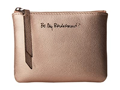 Rebecca Minkoff Betty Pouch Be My Bridesmaid? (Rose Gold) Travel Pouch