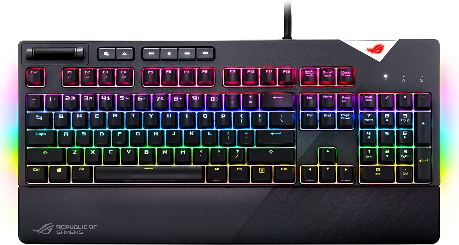 ASUS ROG Strix Flare Cherry 2021new shipping free shipping Product MX Aura Sync Brown Mechanical RGB