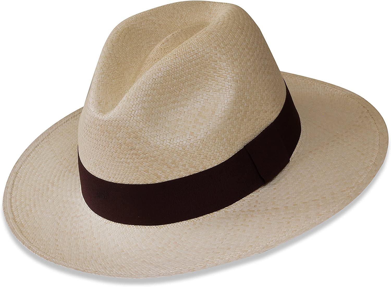 Tumia - Very popular! Fedora Panama Hat Quality inspection White or Vers Natural Non-Rollable