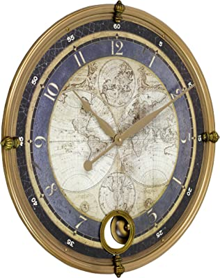 Aspire Ramona Old Map Wall Clock, Gold