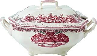 Johnson Brothers A4256408172 TWAS The Night Serving Dish, L, ピンク/アイボリー
