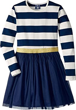 Toobydoo - Tulle Dress w/ Rugby Stripe (Infant/Toddler/Little Kids/Big Kids)