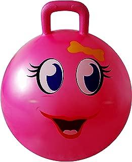 AppleRound Space Hopper Ball with Pump, 18in/45cm Diameter for Ages 3-6, Hop Ball, Kangaroo Bouncer, Hoppity Hop