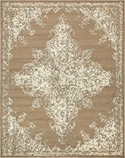 Vintage Traditional Overdyed Brown 8' x 10'-Feet St. Johns Collection Area Rug - Living Dinning Room Bedroom Rugs and Carpets