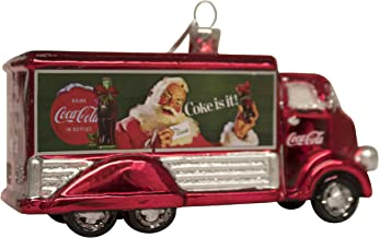 Kurt Adler Coca-Cola Glass Truck Ornament, 5-Inch