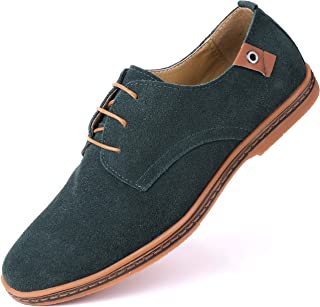 Marino Suede Oxford Dress Shoes for Men - Business Casual Shoes (Hunter Green, 9)