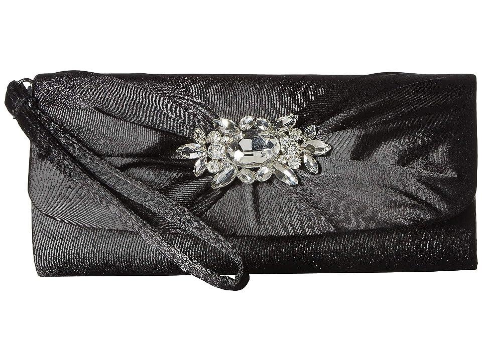 Jessica McClintock Marian Wristlet (Black) Handbags