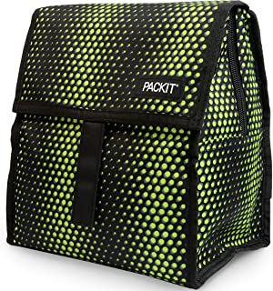 PackIt Freezable Lunch Bag with Zip Closure, Venom