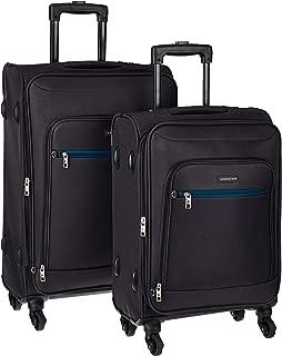 Aristocrat Nile Polyester Black Softsided Luggage Set (Nile)