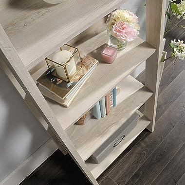 Sauder Trestle 5-Shelf Bookcase, Chalked Chestnut finish