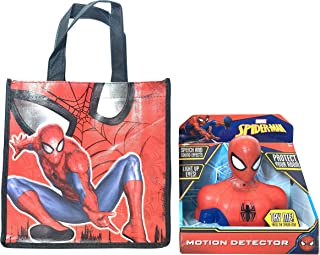 UnitedPacificDesign Spiderman Motion Detector with Gift Bag - Speech and Sound Effects Light up Eyes Motion Sensor Comes in a Spiderman Gift Bag