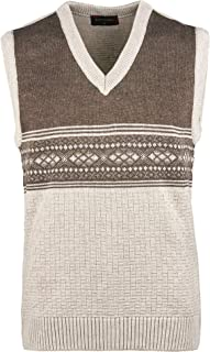 Men Knitted Classic Slipover Sleeveless Jumper Cardigan Tank top Sweater