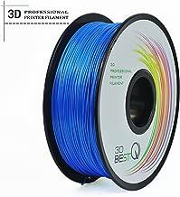 3D BEST-Q Flexible TPU 1.75mm 3D Printer Filament, Dimensional Accuracy +/- 0.03 mm, 1KG Spool, 8 Color To Choose (blue)