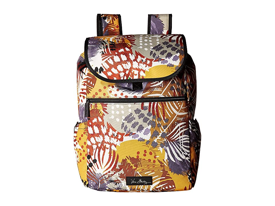 Vera Bradley Lighten Up Drawstring Backpack (Painted Feathers) Backpack Bags