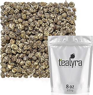 Tealyra - Superfine Jasmine Dragon Pearls - Best Chinese Jasmine Loose Green Tea Leaf - Organically Produced - Pleasant Aroma and Tonic Effect - 220g (8-ounce)