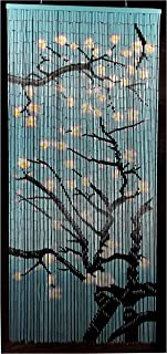 Vasy Home Cherry Blossom Hand Painted Bamboo Curtains
