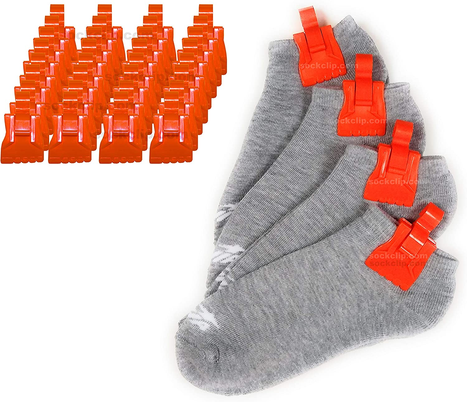 The Amazing Sock Clip Holder 32 Orange Made 70% OFF Outlet U.S Clips in Max 66% OFF