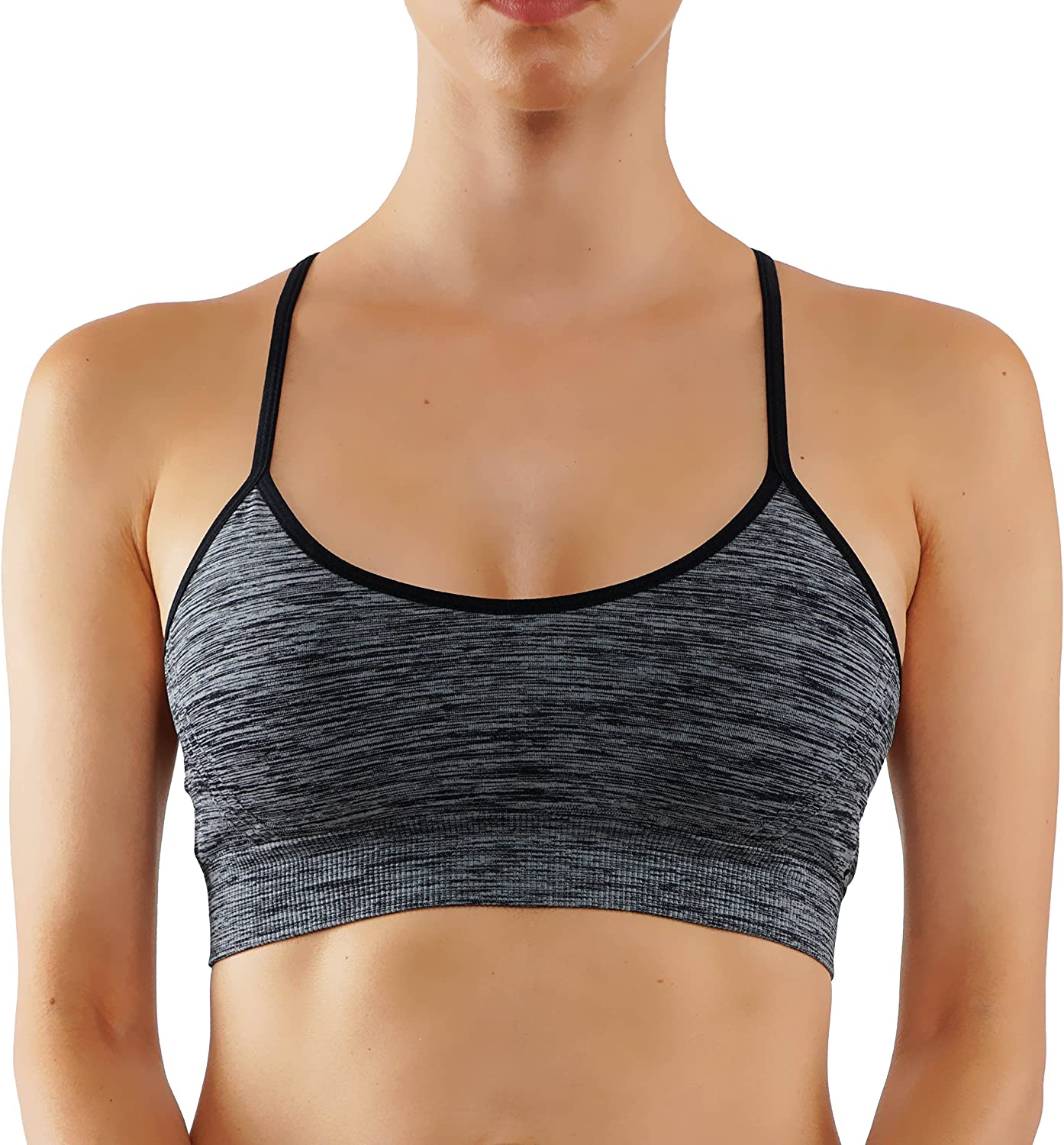 Bise Women's Sports Bra Yoga Top Padding Workout Middle Support Active Wear