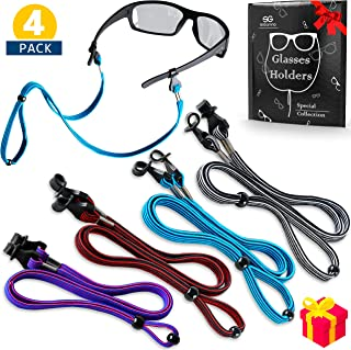 Eye Glasses String Holder Strap - Sports Eyeglass Straps for Men Women - Eyeglass Holders Around Neck - Sunglass Retainer Cord Lanyards
