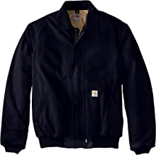 Carhartt Men's Big & Tall Flame Resistant Duck Bomber Jacket,Dark Navy,3X-Large/Tall