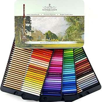 SCHPIRERR FARBEN 96 Color Pencil Set Professional Named And Numbered, Oil Based Soft Core, Ideal For Adult Crafts, Artists, Sketchers And Children, Coloring Sketching And Doodling