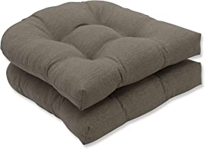 Pillow Perfect Indoor/Outdoor Monti Chino Wicker Seat Cushions, Set of 2, Multicolor, 19 L x 19 W x 4.5 D