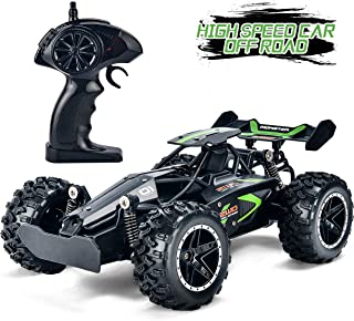 Yuboa RC Racing Car High Speed Remote Control Car Fast RC Car Rechargeable RC Truck Radio Controlled Car Toys for Kids Boys Xmas Gifts with 2 Batteries Black