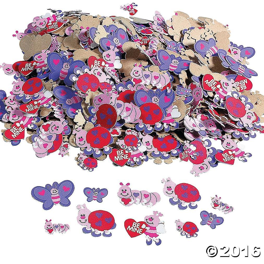 500 VALENTINE LOVE Bug HEART FOAM STICKER Shapes/ARTS & Crafts/SCRAPBOOKING Supplies/SELF ADHESIVE/HOLIDAY/VALENTINE'S DAY ACTIVITY (Original Version)
