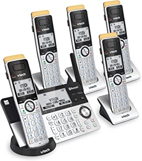 VTech IS8151-5 Super Long Range 5 Handset DECT 6.0 Cordless Phone for Home with Answering Machine, 2300 ft Range, Call Blo...