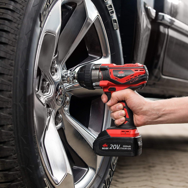 NoCry 20V Cordless Impact Wrench, 1/2″ Detent Anvil